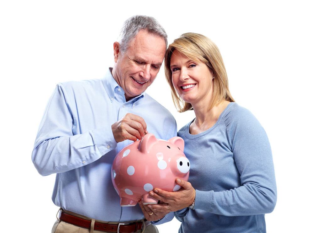 Middle Age Couple Piggy Bank