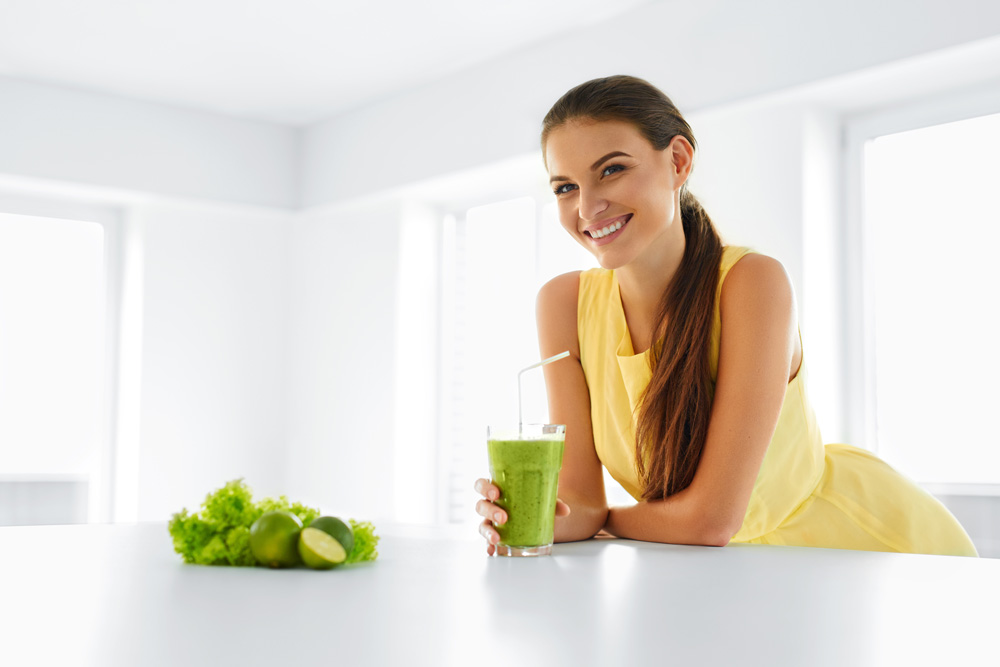 Woman Green Smoothie
